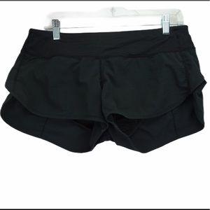 Lululemon size 8 black goal crusher shorts
